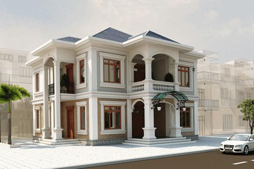 Mẫu thiết kế đẹp kiến trúc đông phong