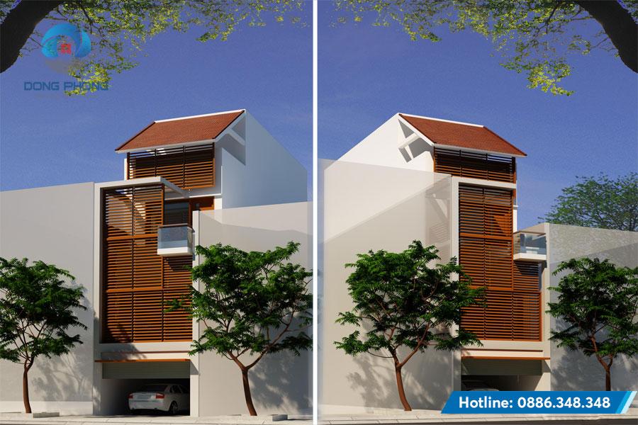 Mẫu thiết kế nhà phố đẹp kiến trúc đông phong