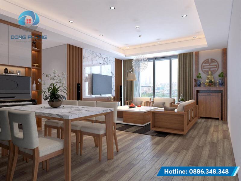 thiết kế chung cư 120m2