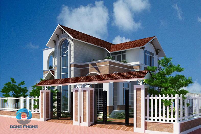biệt thự mái thái 2 tầng