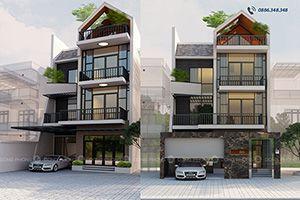 Nhà phố 3 tầng hiện đại mặt tiền rộng 8m NPHD1300