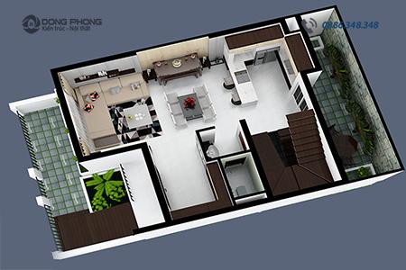 Nội thất nhà phố hiện đại NTNP1309- đại diện
