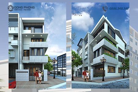 nhà phố 4 tầng hiện đại mẫu KTNP1309 đại diện