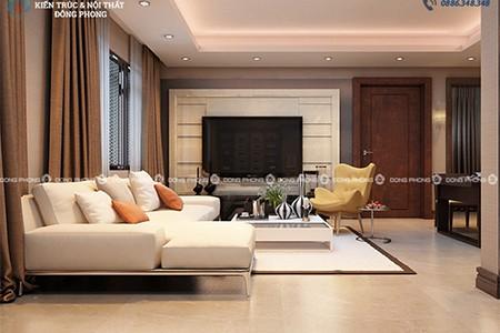 thiết kế phòng khách chung cư Mulberry lane dd